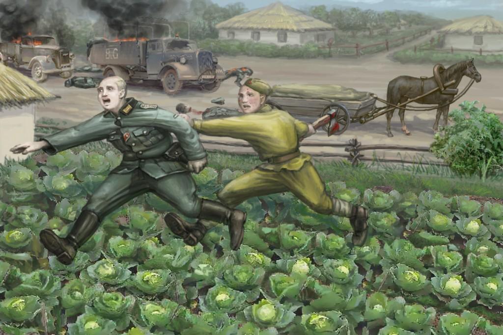 Овчаренко гоняется за фашистами