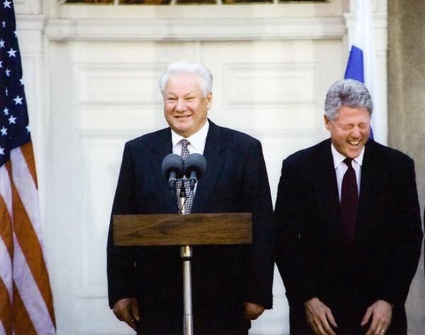 ельцын и клинтон!