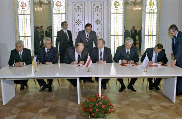 подписание беловежского соглашения шушкевич ельцын кравчук