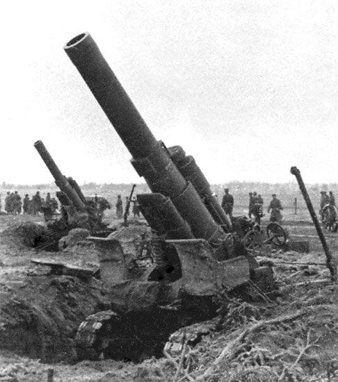5-й сталинский удар Батарея тяжёлых гаубиц Б-4. 3-й Белорусский фронт.