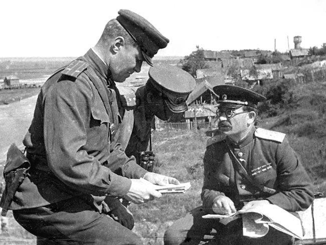 5-й сталинский удар Командующий 5-й гвардейской танковой армией П. А. Ротмистров