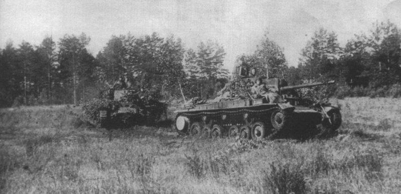 5-й сталинский удар Советские танки Валентайн IX выдвигаются на боевые позиции. 5-я гвардейская танковая армия. Лето 1944 года
