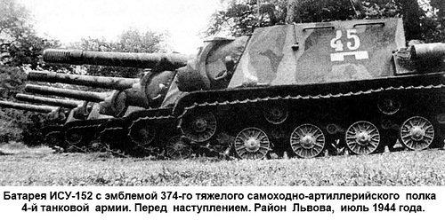 6-й сталинский удар батарея ИСУ