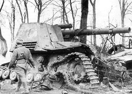 7-й сталинский удар Германская самоходно-артиллерийская установка Hummel