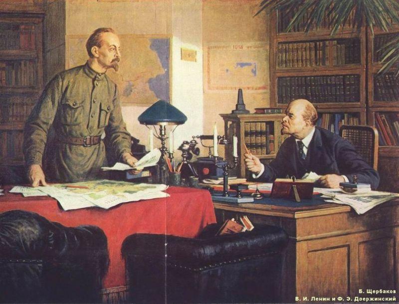 Феликс Дзержинский Ленин картина