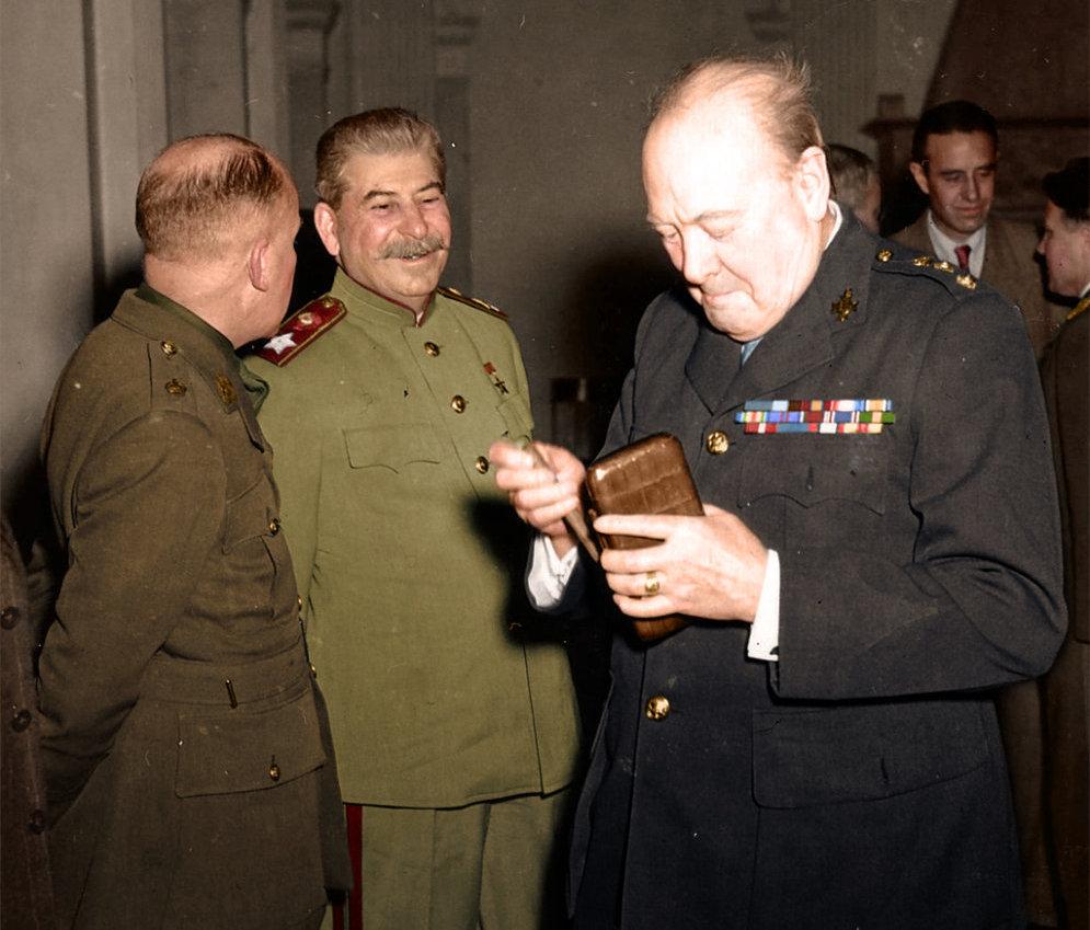 Генералиссимус Сталин и Черчиль