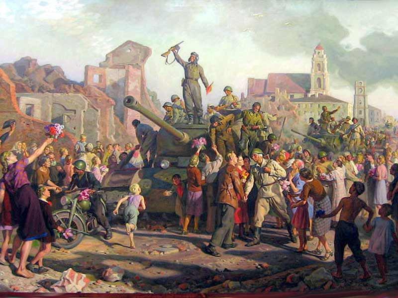 'Минск 3 июля 1944 года'. Художник Валентин Викторович Волков (1881-1964)