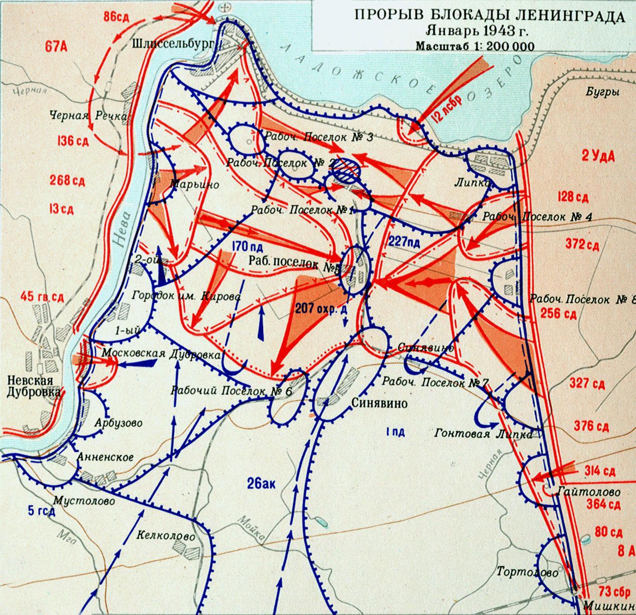 Прорыв блокады Ленинграда. Январь 1943 г.