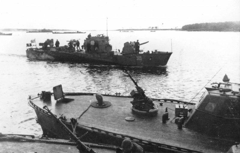 Советский бронированный малый охотник СК-506. Погиб 1 июля от подрыва мины в районе острова Тейкарсаари