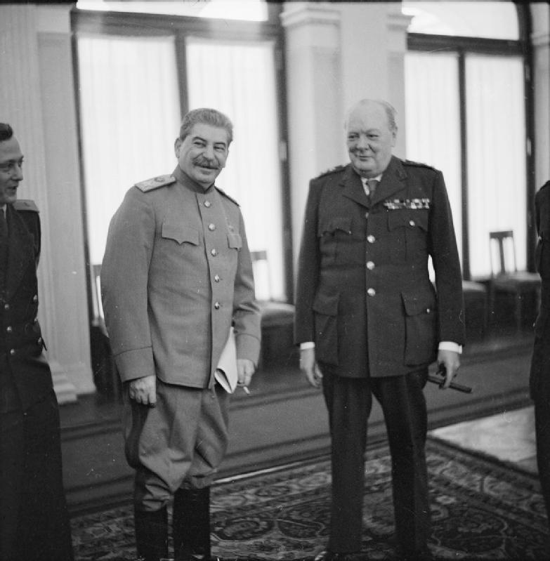 Сталин и Черчиль