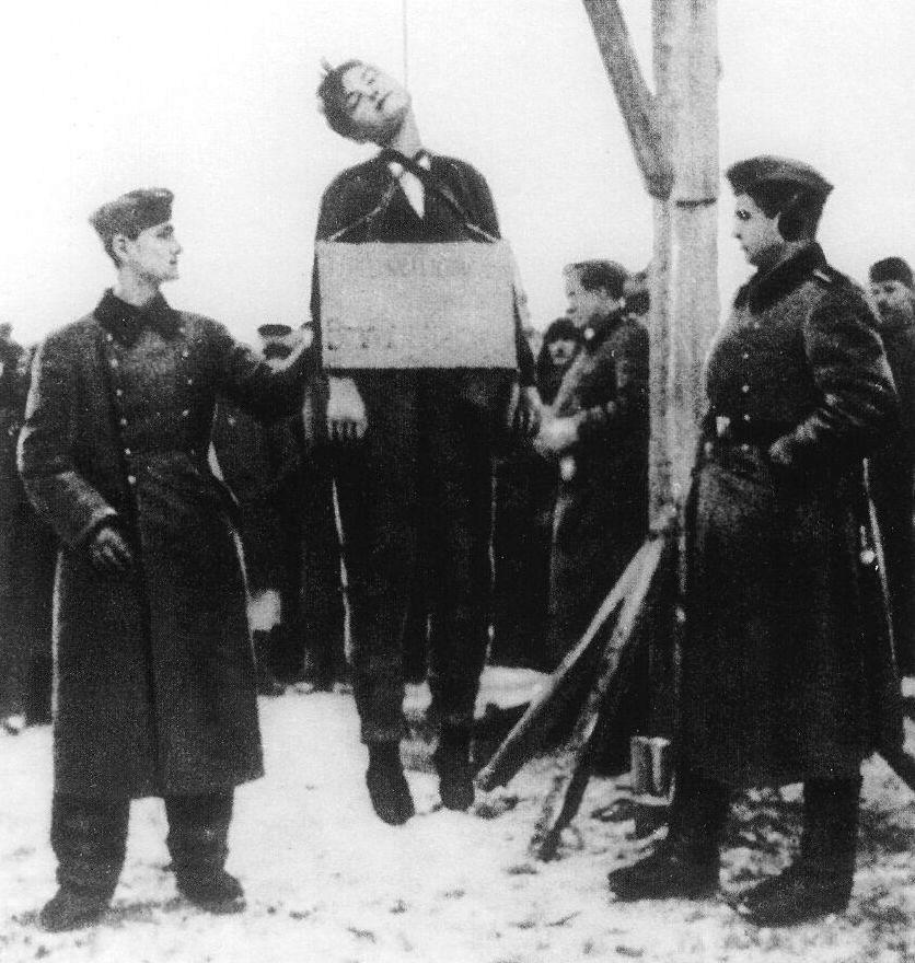 Зоя Космодемьянская казнь
