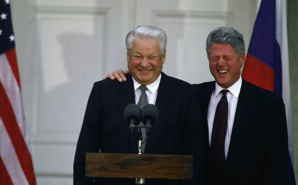 ельцын клинтон смех
