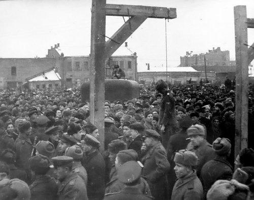 казнь фашистов Харьков 1943-1