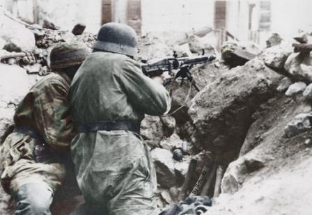 Немецкие пулеметчики в Монте Кассино