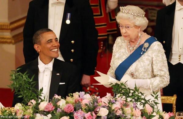 обама и королева англии