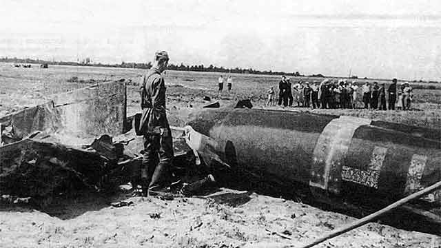 Виктор Талалихин сбитый самолет