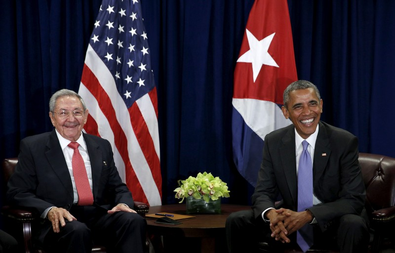 Obama meets Raul Castro at the United Nations in New York