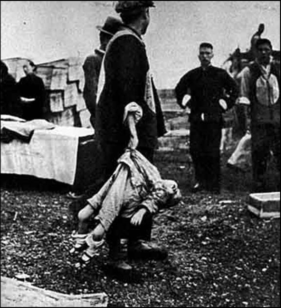 зверства японцев в китае - убитый ребенок