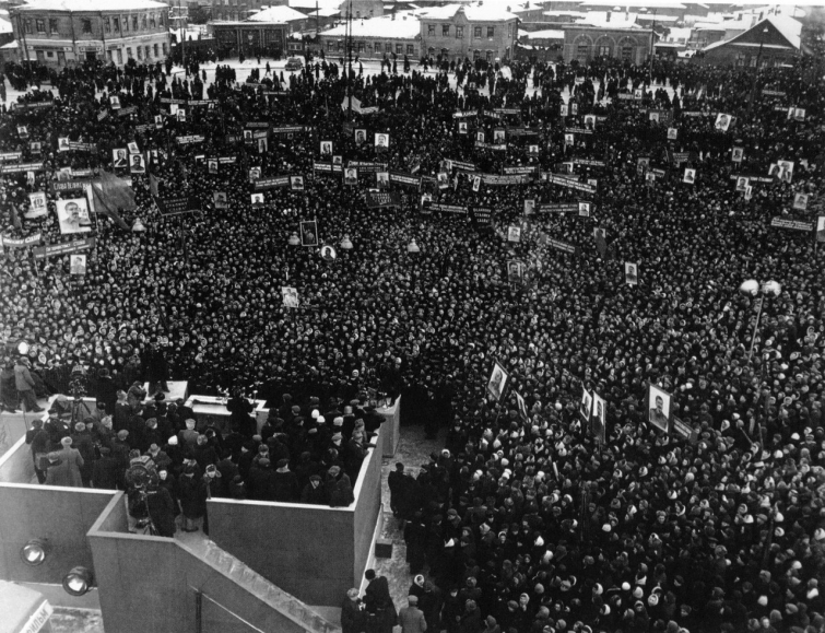 Похороны генералиссимуса Сталина - площадь