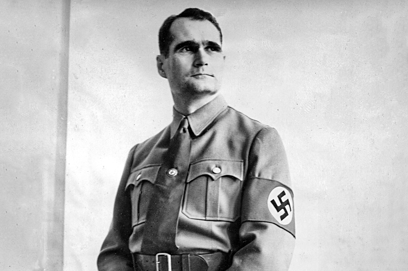 ** FILE ** Rudolf Hess, German Nazi Party functionary and deputy to Adolf Hitler, is seen posing on March 29, 1938, in Berlin. 20 years ago, on Aug. 17, 1987, Hess hanged himself at age 93 in Spandau Prison in then-West Berlin. (AP Photo) ** B/W ONLY ** zu unserem Korr **