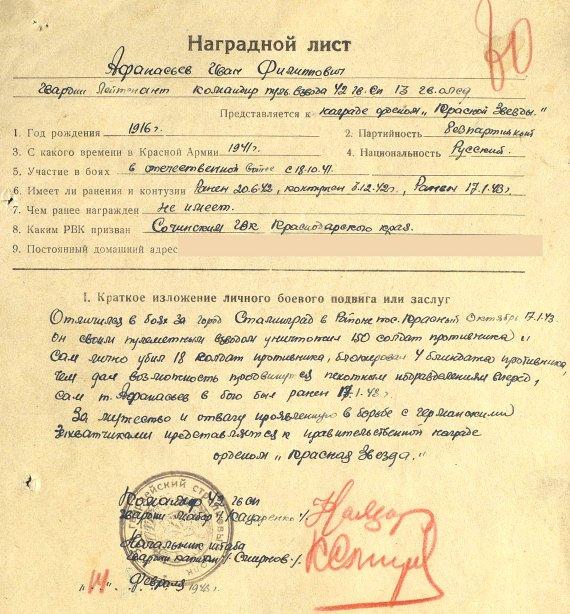 Афанасьев Иван Филиппович нл