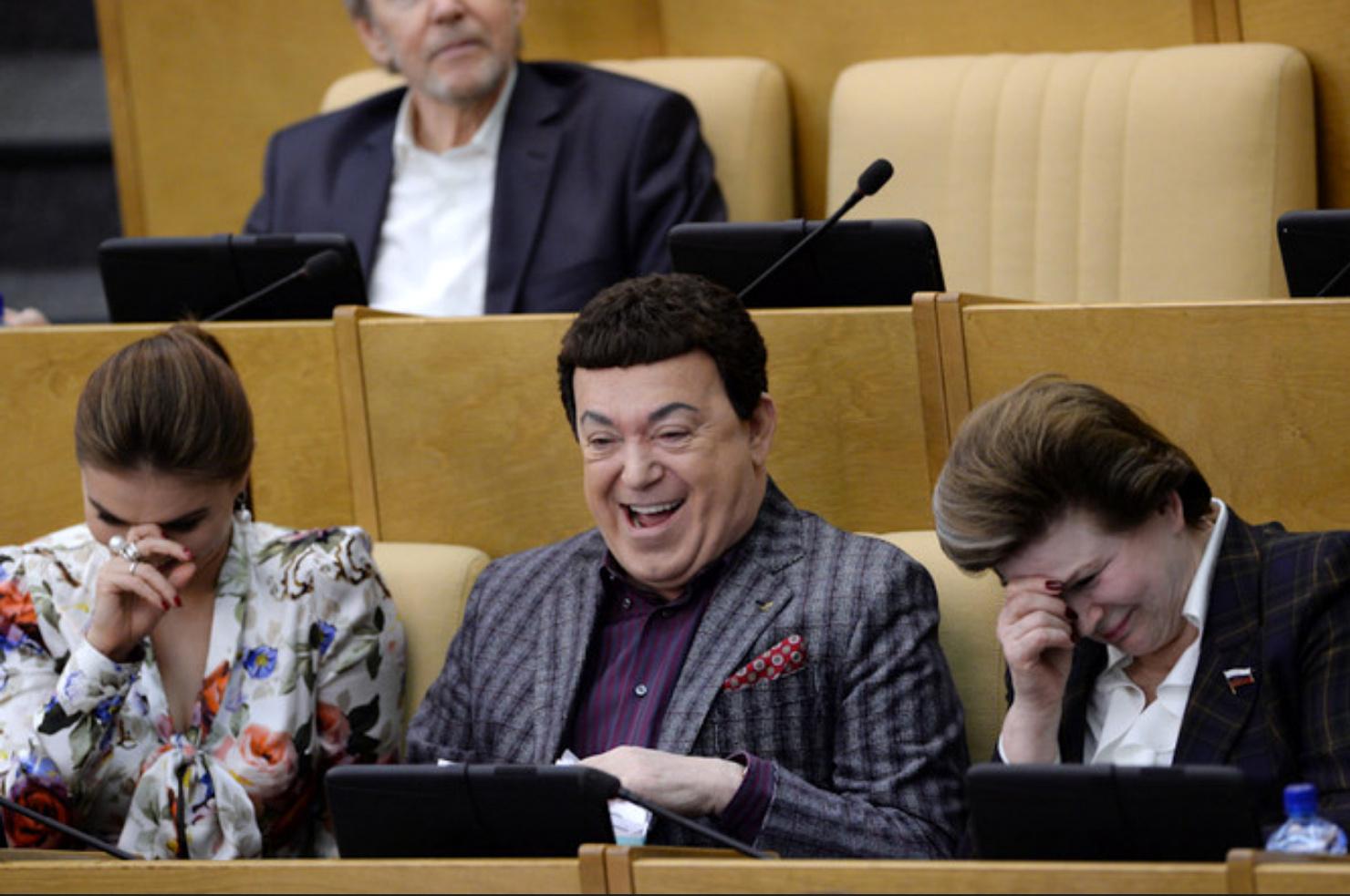 Кобзон и Терешков в госдуме