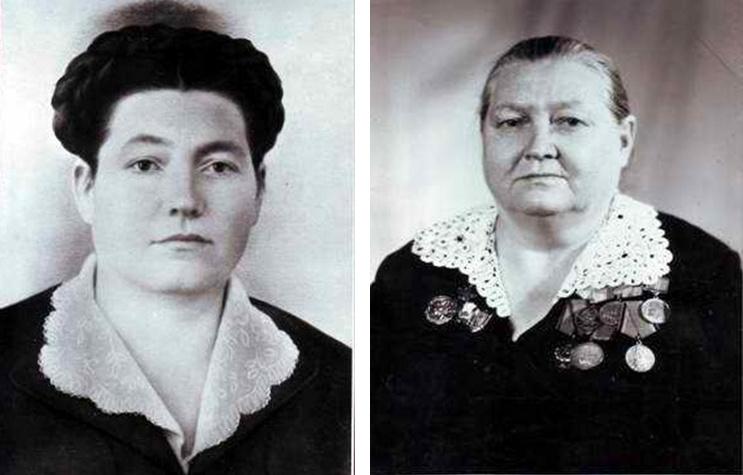 Мария Степановна Ладыченко (д. Ульянова) – до войны и после. Дом Павлова