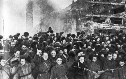 дом павлова после завершения Сталинградской битвы