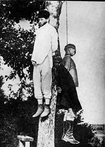 интервенция сша Повешенные мирные жители американскими карателями в Приморье в 1919 году.