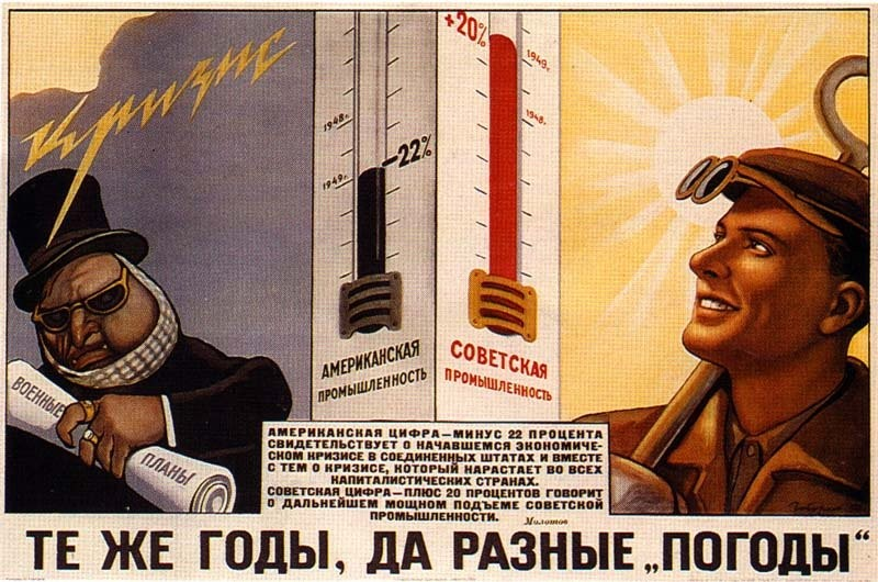 капитализм и социализм - плакат