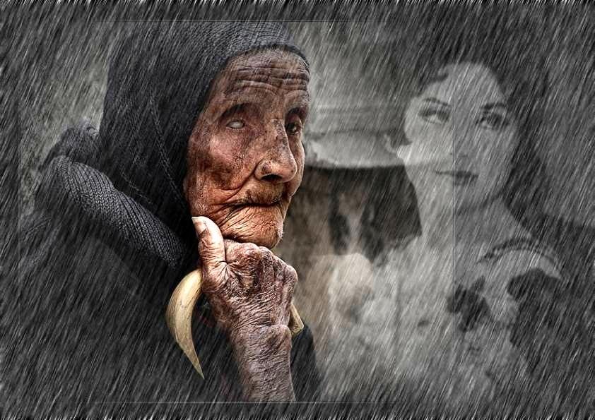 старушка нищая