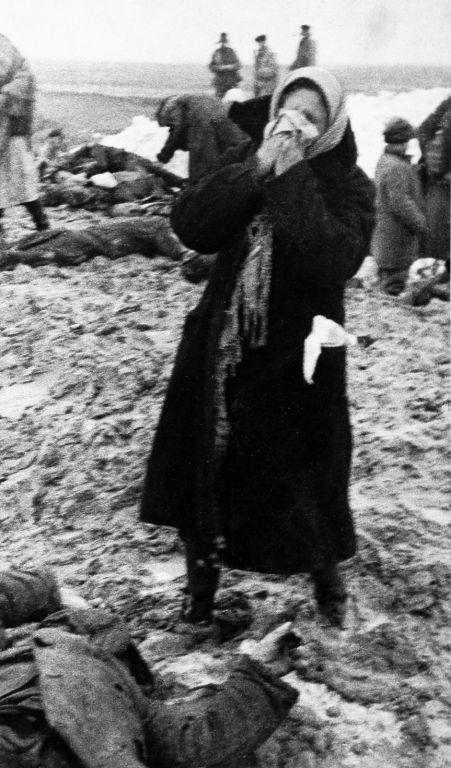 Багеровский противотанковый ров близ Керчи 1942г зверство гитлеровцев