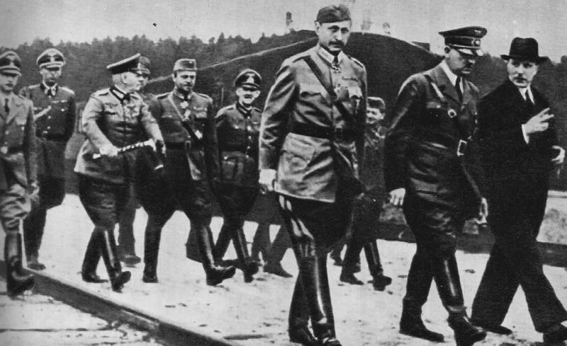 Гитлер, маршал Маннергейм и президент Рюти в Иматре. 04.06.1942г.1