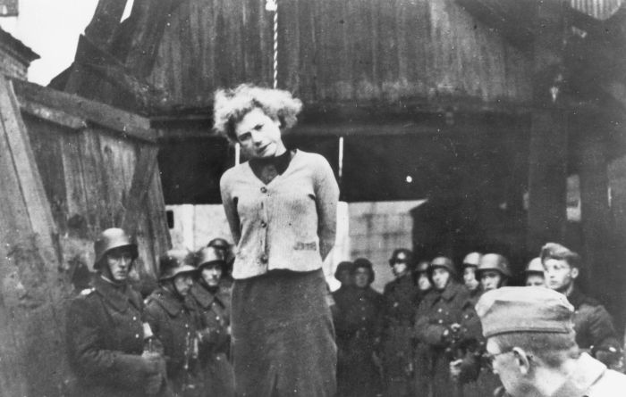 Hanging Belarusian Partisans in Minsk, 1941