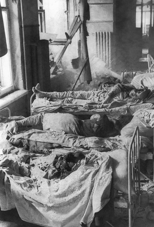 Пациенты ленинградской больницы, погибшие в результате немецкого артналета