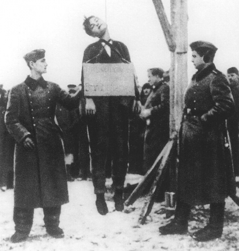 Убийство гитлеровцами Зои Космодемьянской