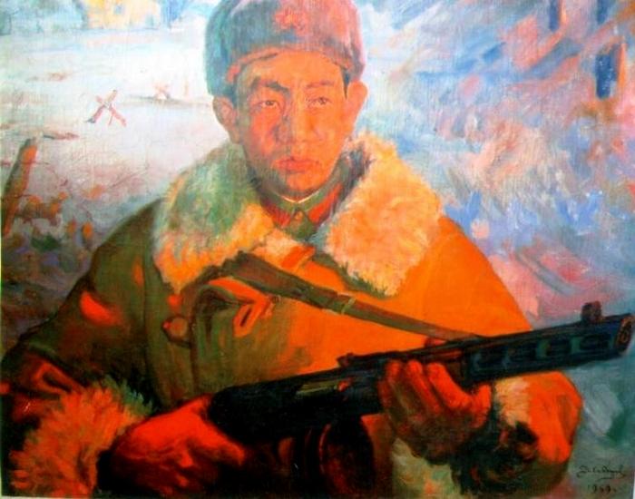 Герой Советского Союза Тулеген Тохтаров-картина
