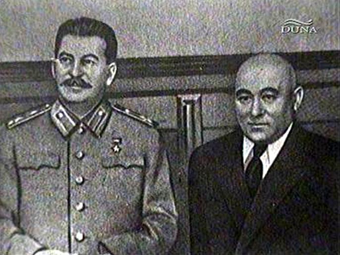 Сталин и венгерский лидер Матиас Ракоши