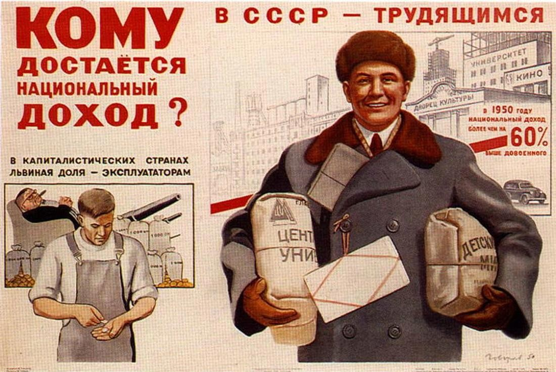 плакат экономика Сталина