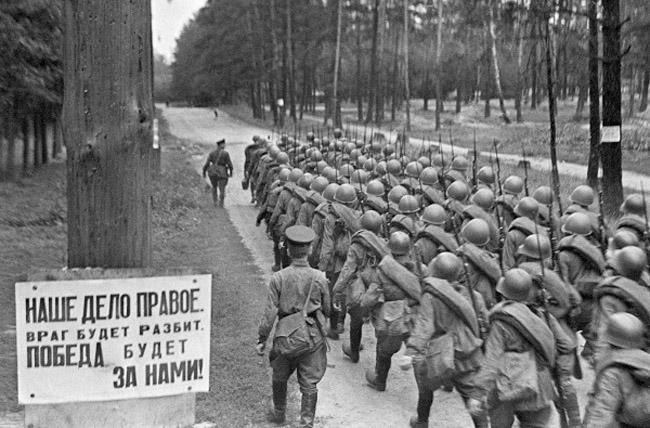 советские солдаты РККА