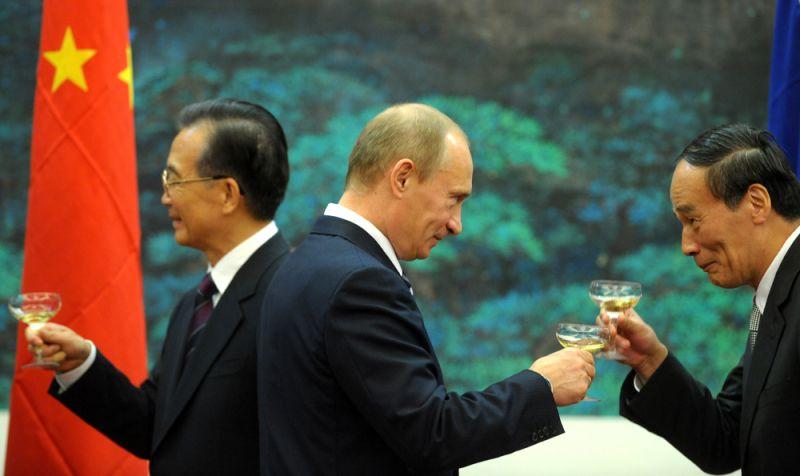 Путин и китай