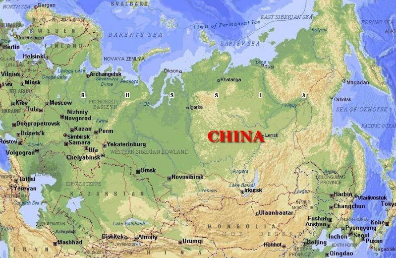 карта РФ как китай