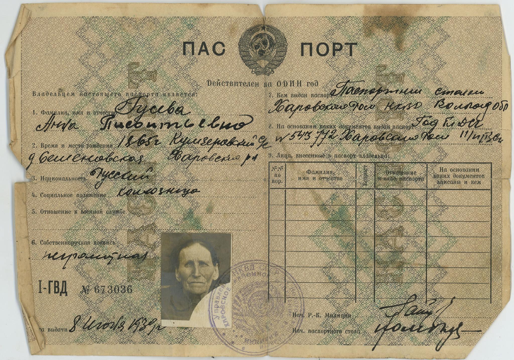 pasport-krestyanki-v-sssr