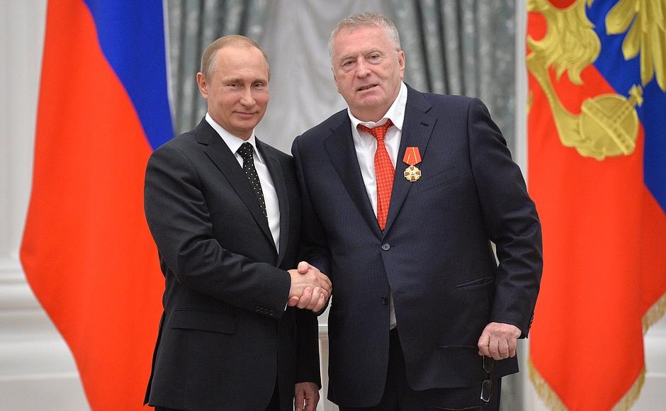 Путин Наградил Жириновского