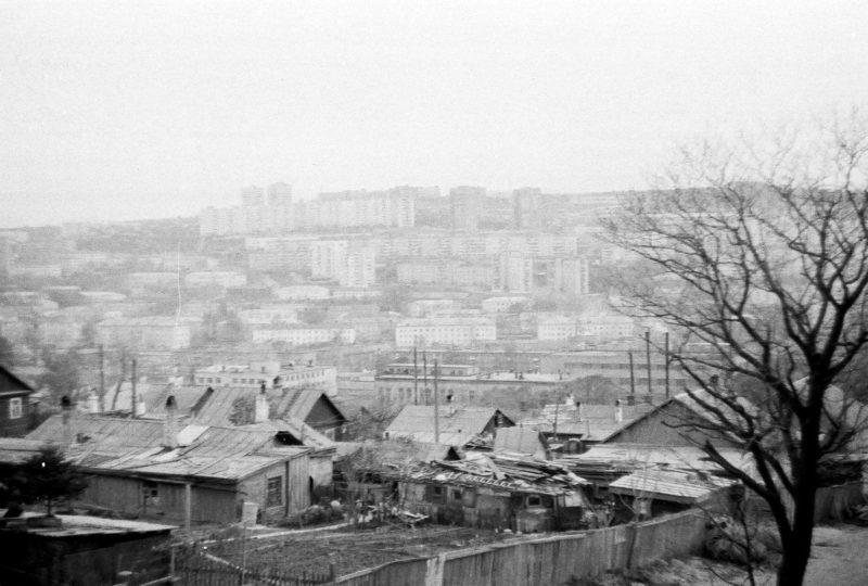 Владивосток - вид на Фадеева и Школьную со стороны дома 10 ул. Громова. Фотография сделана Артюшенко Олегом